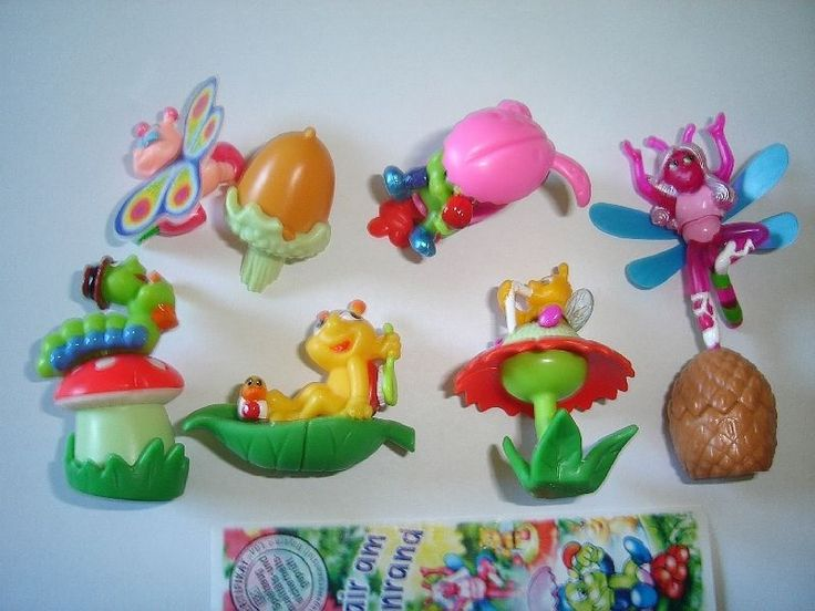 Kinder Surprise Set Bugs in The Meadow 2001 Figures Toys Collectibles | eBay