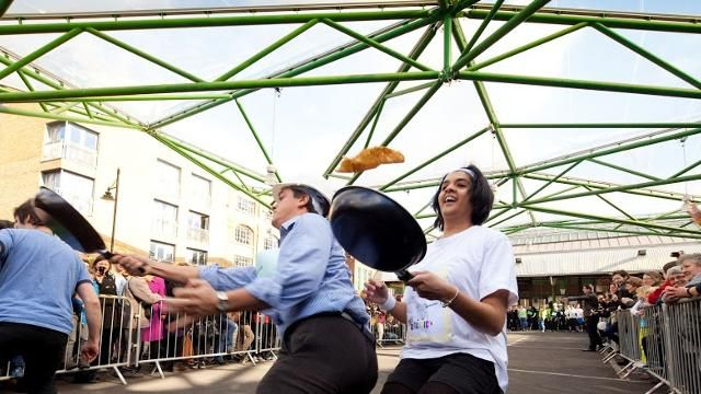 Pancake Day in London Annual Pancake Day races will be taking place across the country including London this 2015