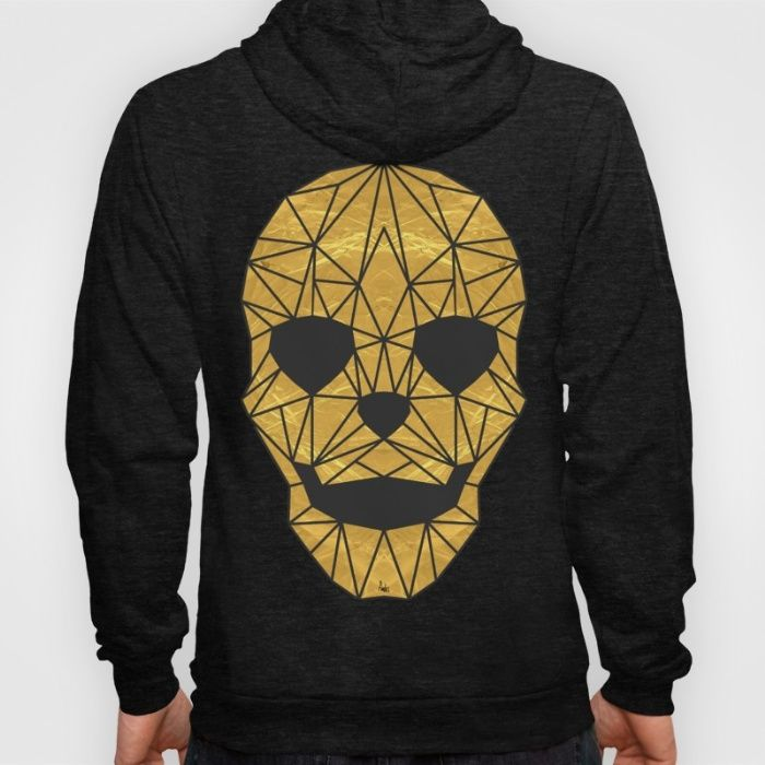 'The Golden Child' Hoodie by Fimbis | Society6 . . hoody, waywt, design, fashion, gold, skull, geometric, skeleton, symmetry, fashionista,