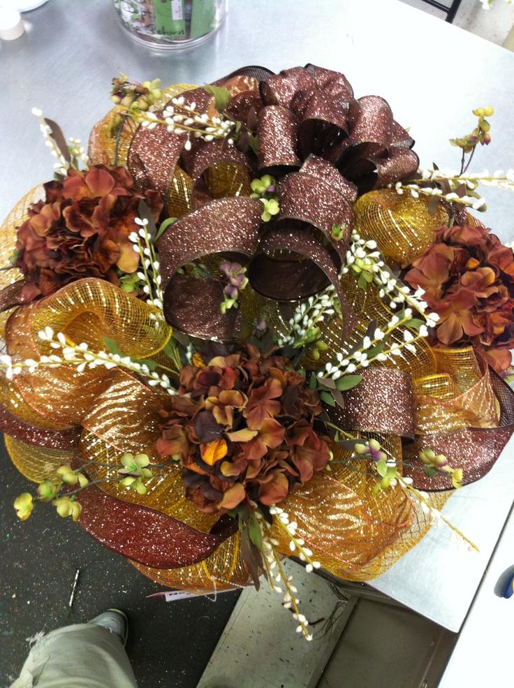 Fall mesh wreath just pinterest ux ui