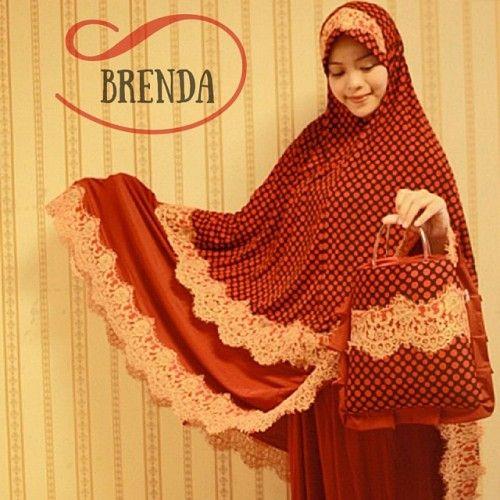 Mukena Cantik Brenda Merah, Mukena Semi Jumbo - Muslim Online Shop | Yukbisnis