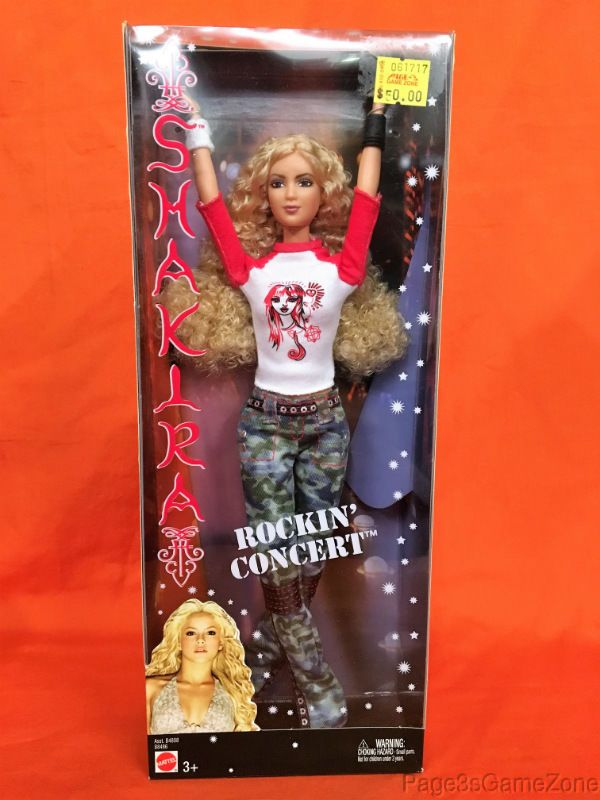 "Shakira Rockin' Concert Mattel Barbie 11.5"" Fashion Doll Red/White Shirt Barbie #Mattel #Dolls"