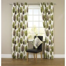 Retro Curtains And Green On Pinterest