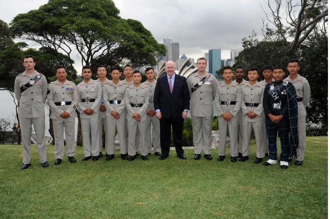 At Admiralty House, the Governor-General hosted an afternoon tea for the Gurkha Welfare Trust Fund Australia.