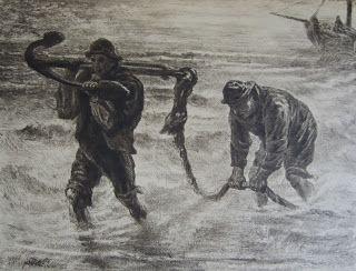 Marcellin Gilbwrt Desboutin (1823-1902) - Les Travailleurs de la Mer