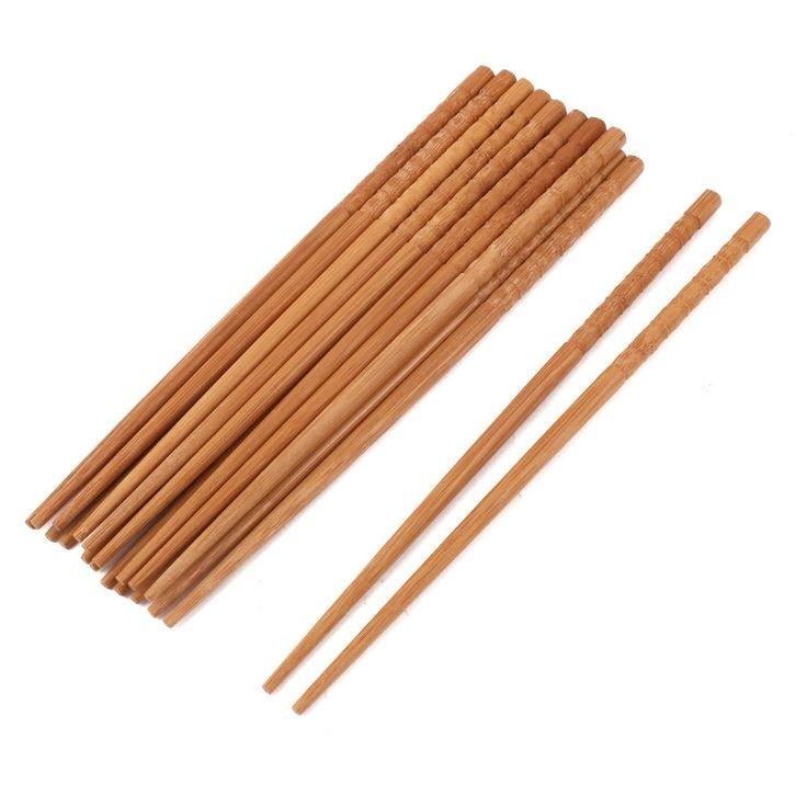 Restaurant Kitchenware Bamboo (Green) Chinese Style Dinner Lunch Chopsticks 10 Pairs