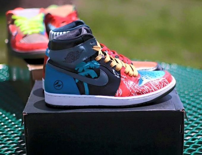 """These """"What the"""" Air Jordan 1s may be the best Jordan 1 """"Laser"""" customs we've seen yet. Take a closerl ook here."""