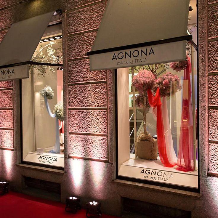 Our special windows for Agnona #CashmereCloud special #event