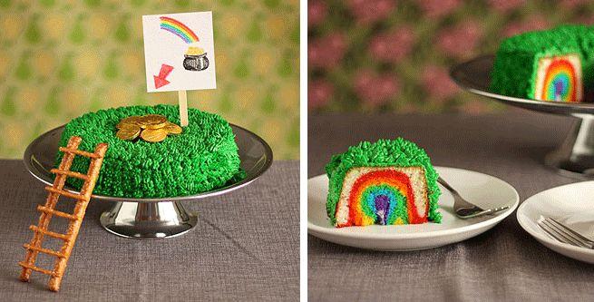 Catch a Leperchaun cake--creative and cute from #Bon Appétempt blog