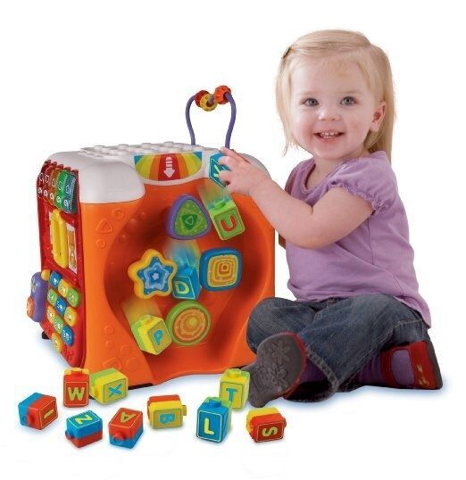VTech Unisex Toddler Activity Center Learn Numbers & Letters Interactive Cube #VTech