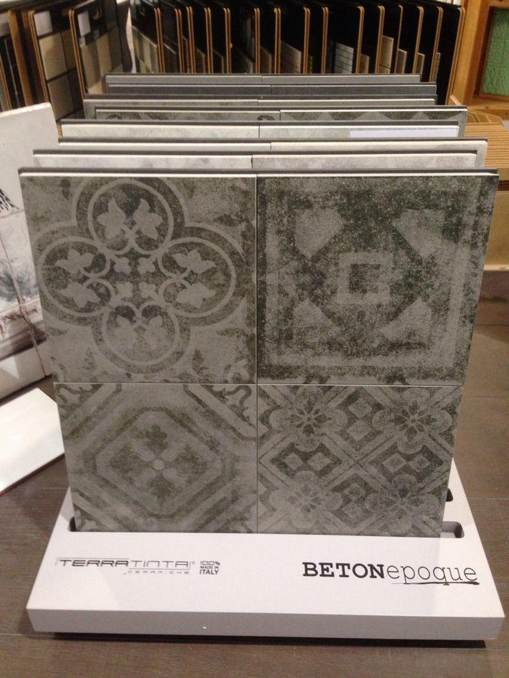 Nieuwe serie beton epoque 20x20 vloertegels met patchwork motieven!