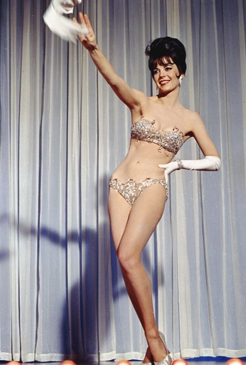 Natalie Wood portrays burlesque dancer Gypsy Rose Lee in Gypsy (1962)
