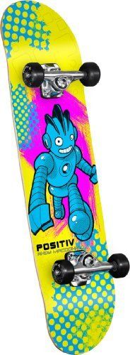 POSITIV Andy Macdonald Monster Series Skateboard by Positiv. $35.17. Amazon.com                    Spring 2012 Andy Macdonald MONSTER SERIES complete skateboard from POSITIV Ride the rails and air out like Andy Mac with his 2012 Monster Series complete skateboard from POSITIV. Every POSITIV deck is manufactured to the demanding specifications of Skate One using its proprietary AirLam skateboard presses and birch veneer source. The AirLam process fuses multiple plies of wood toget...