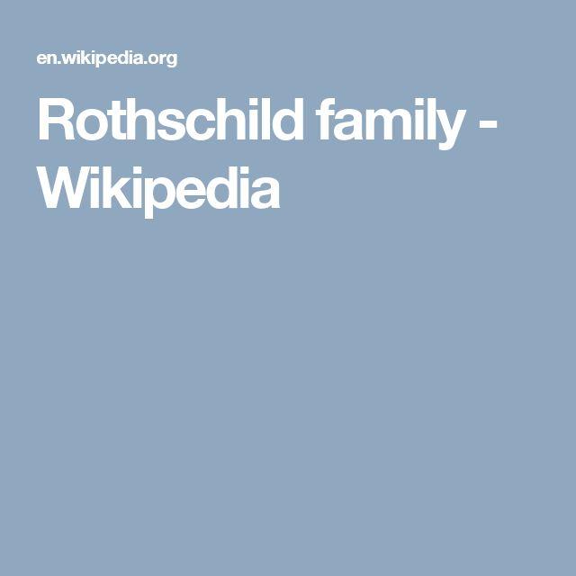Rothschild family - Wikipedia