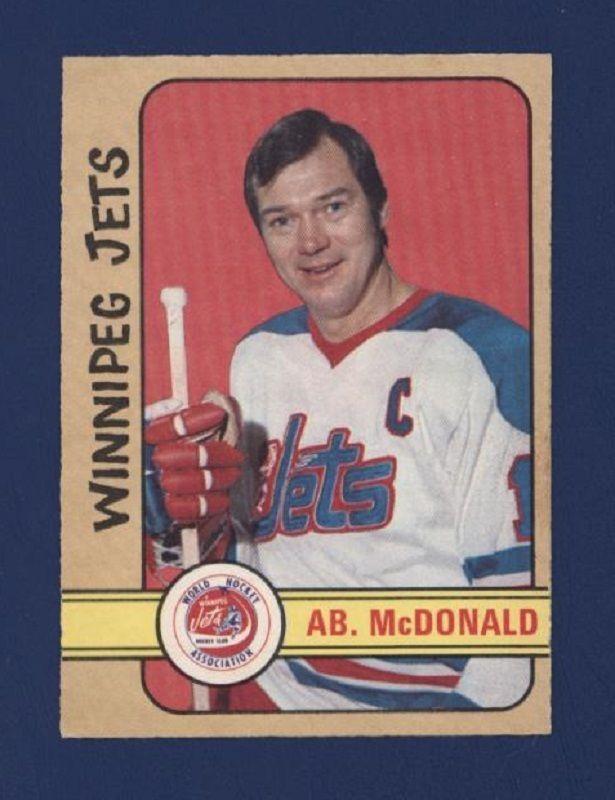 1972-73 O-Pee-Chee #321 Ab McDonald *High Number* (NRMT) Winnipeg Jets !! #WinnipegJets