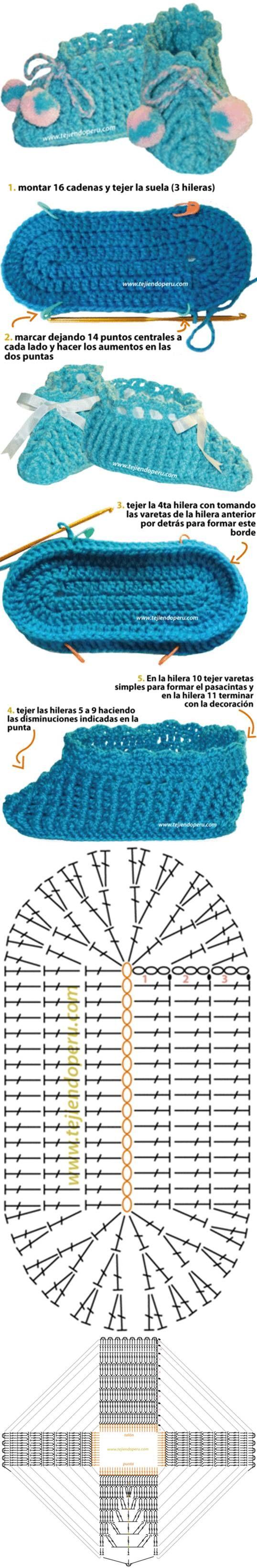 DIY Crochet Crocodile Booties Pattern