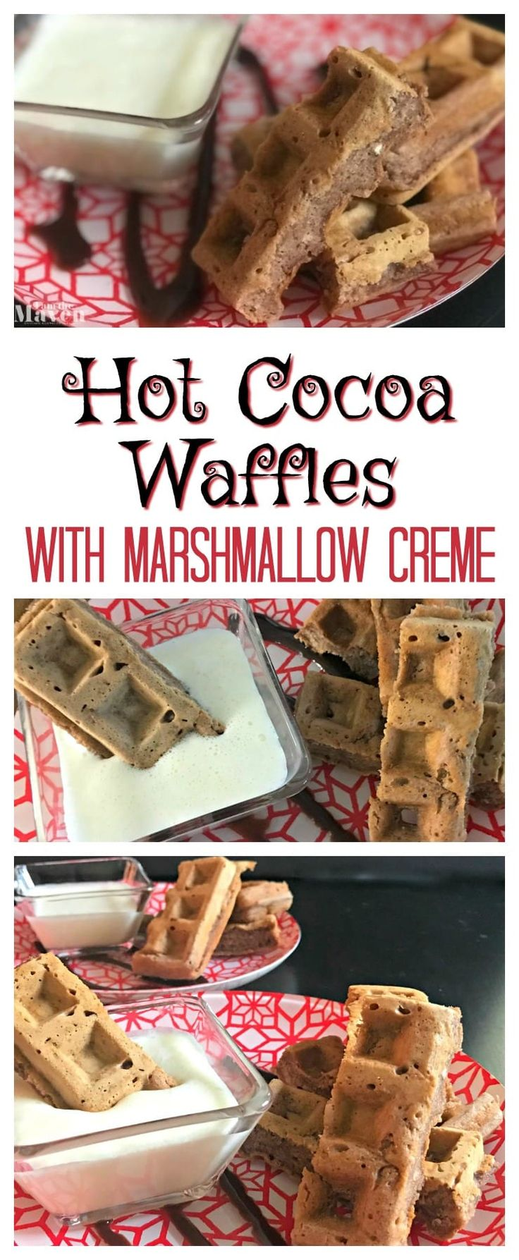 What I love about this recipe for Hot Cocoa Waffles is that I don't have to bust out my stand mixer to make it. A hot chocolate waffle? YUM! AD via @iamthemaven