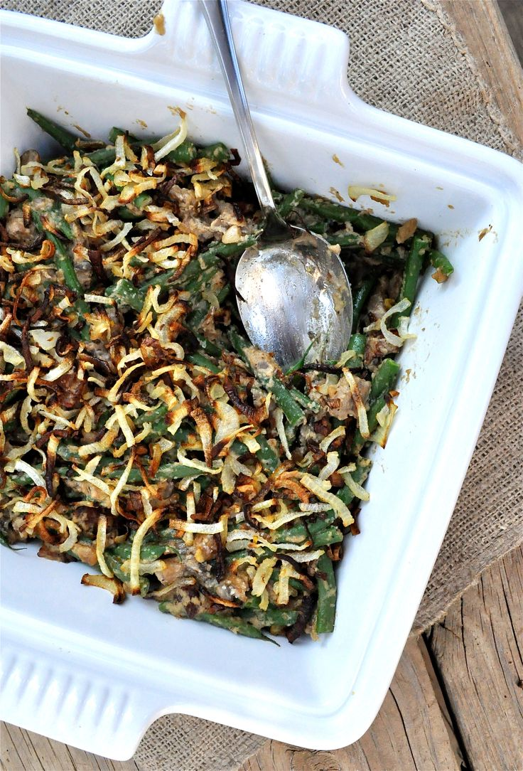 Paleo Green Bean Casserole. Served at easter dinner. Yum! Needs some arrowroot powder to thicken the sauce a bit. Good clean version. -KM