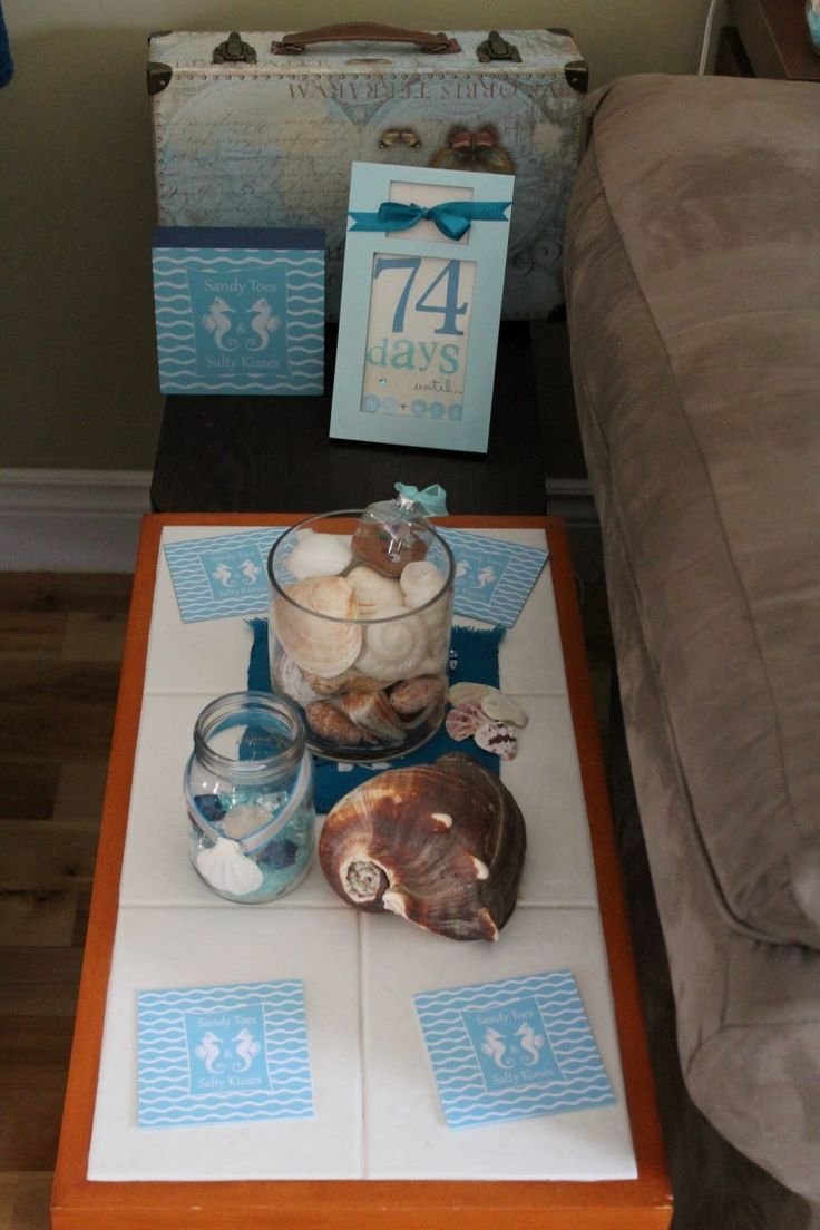 Turquoise Compass-Turquoise beach themed wedding bridal shower