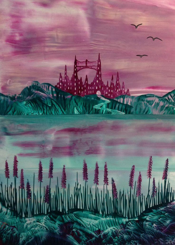 Encaustic landscape