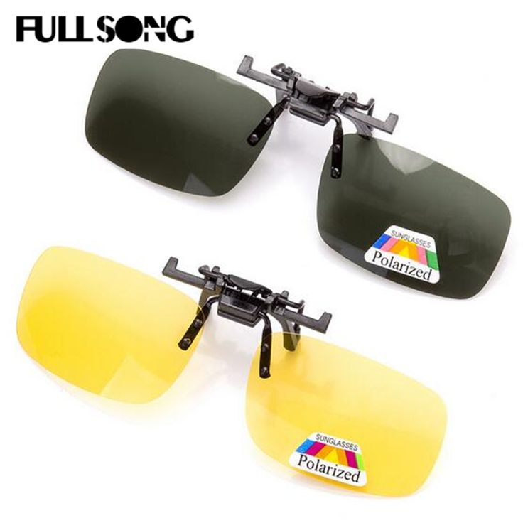 >> Click to Buy << FULLSONG Mens Womens Sunglasses Coating Polarized Clip Sun Glass Day Night Vision Myopia Clip Oculos Polarizado Clipe 086 #Affiliate