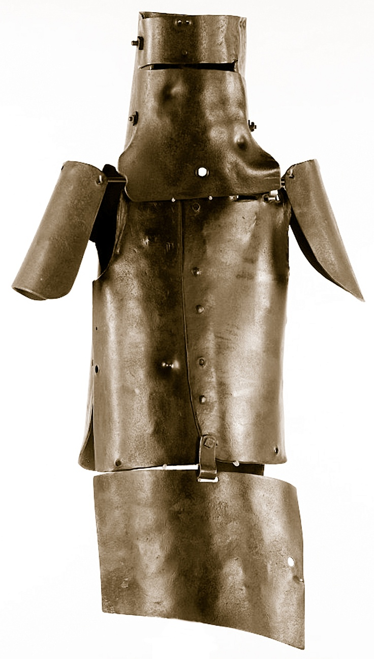 The Kelly Gang's armour, made of plough mouldboards, closely followed the style of ancient Chinese armour — as worn by Beechworth's Chinese in the town's Prince of Wales Birthday processions of 1873 – 74. Ned's suit (pictured) was made by Tom Lloyd and the Gang on a bush forge near Greta and beaten to shape over a green log. The other three suits were made at different places by different men, their identities kept secret.