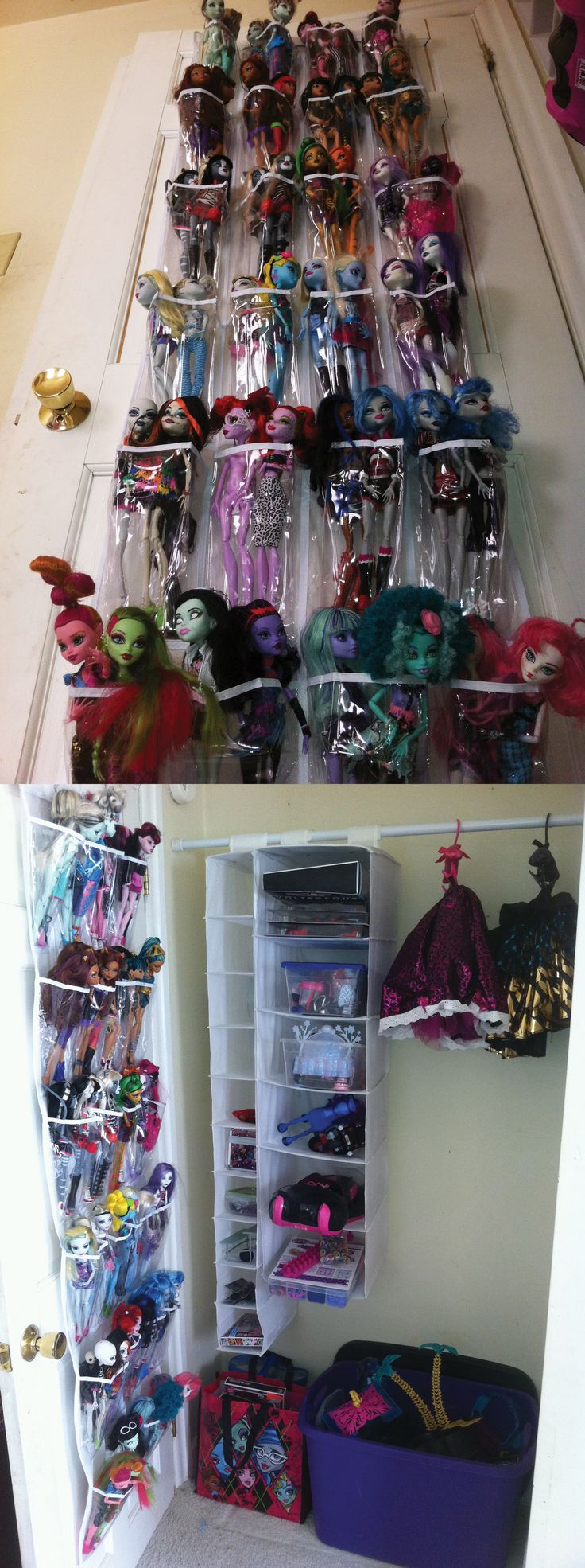 Great way to store all of those Monster High dolls, accessories, & clothes!