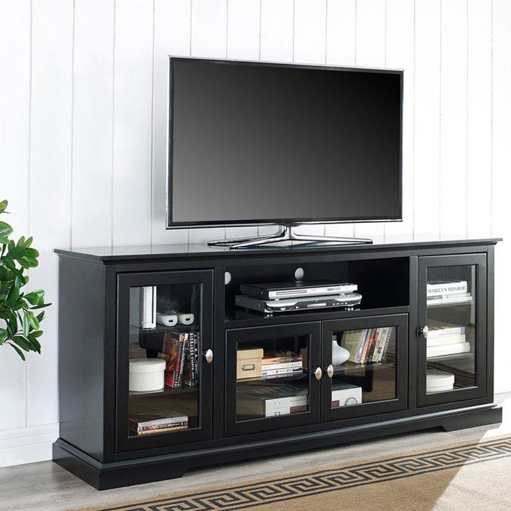 Wood Highboy TV Stand   Black | From Hayneedle.com. Entertainment CentersTv Media  StandsTv ...