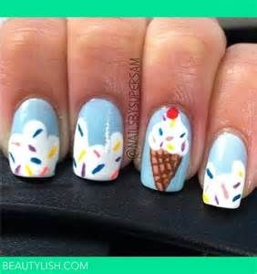 Ice cream nails!!!  Perfect if you're going to Dairy Queen or Cold Stone Creamery or United Dairy Farmers or...