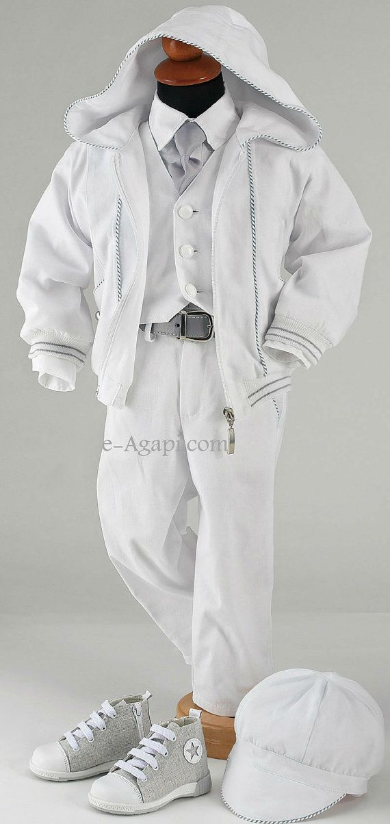 8 pcs greek Baptism Christening Baby boy costume and by eAGAPIcom, €114.98