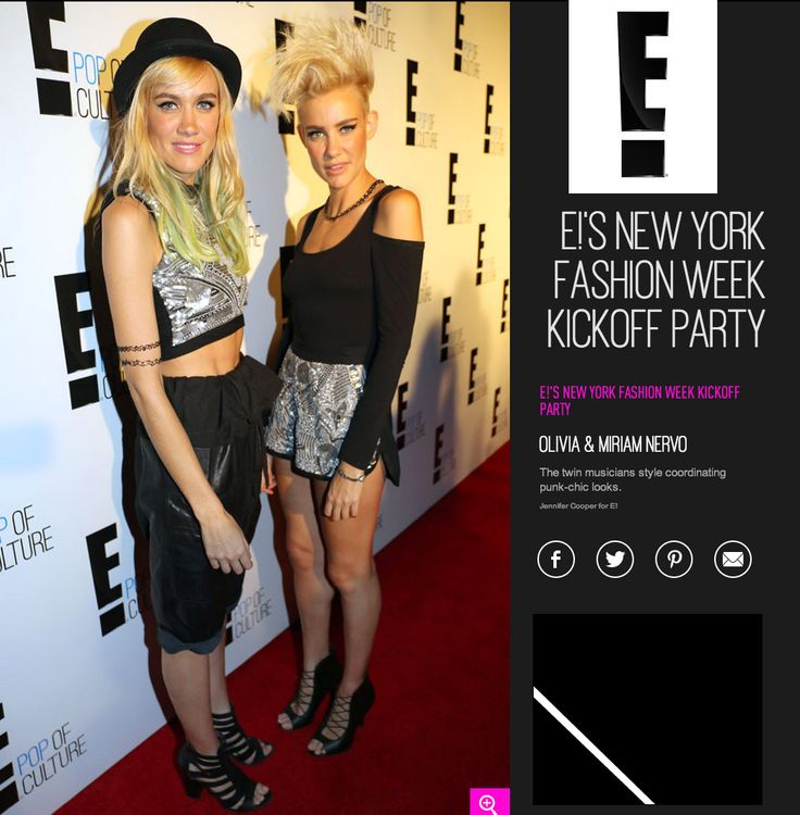 Nervo Twins attend NYFW E news party both wearing MARIAM SEDDIQ