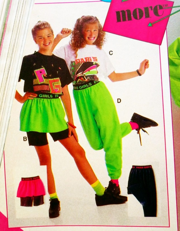 Sears catalog ad for neon clothing