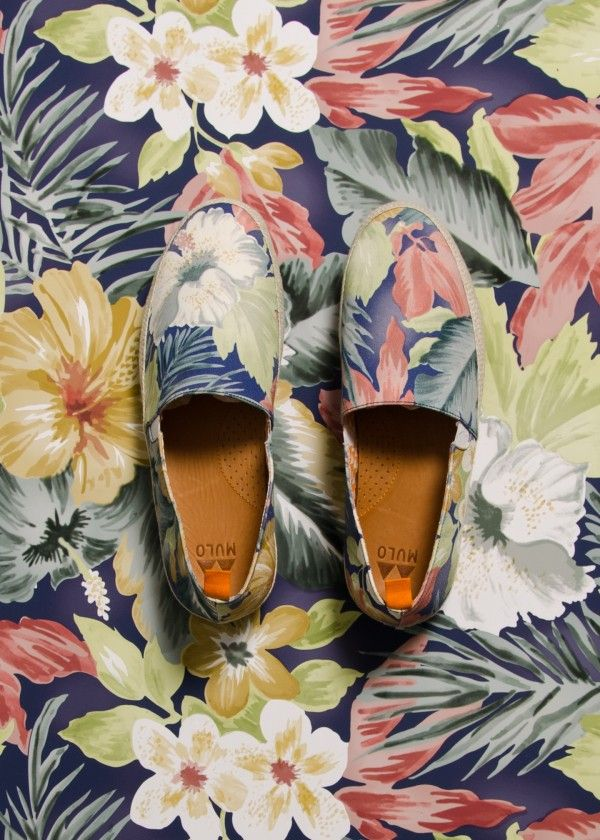 tropical print Hawaii Mulo Shoe  perfect for summers