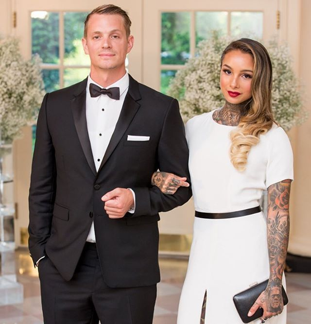 @whitehouse Nordic State Dinner Arrivals...actor Joel Kinnaman and his wife Cleo…