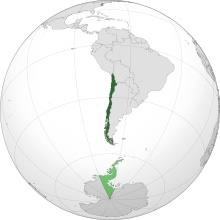 Chile map (including disputed part of Antarctica)