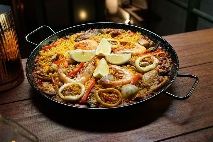 Paella is the ultimate dish to feed a crowd. This mixta version combines seafood with pork, chicken and chorizo, so the dish explodes with flavour.