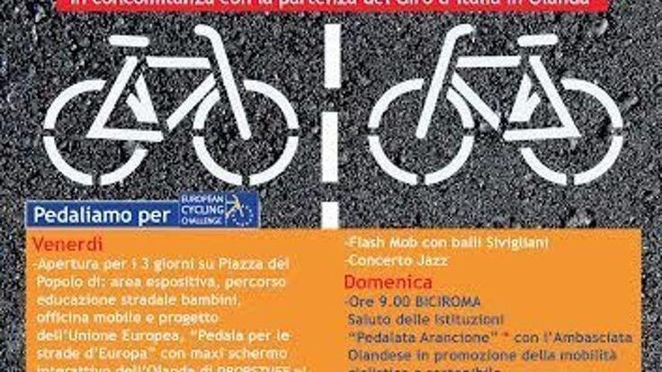 La Festa della #Bicicletta con #BiciRoma2016 a #PiazzadelPopolo