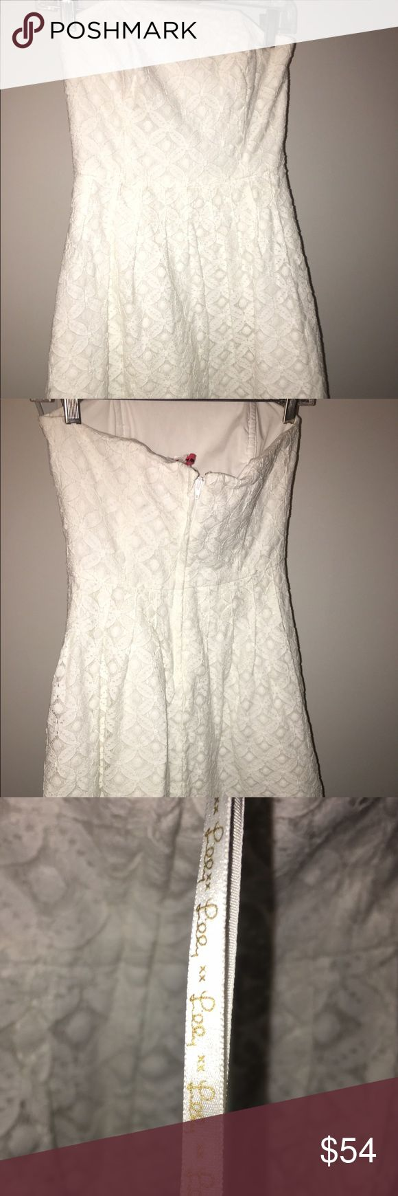 White Lilly Pulitzer dress Lilly Pulitzer brand dress- inside tag has been removed. Professionally dry cleaned Size:2, short dress Lilly Pulitzer Dresses Mini