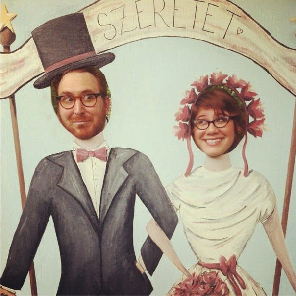 21 Insanely Fun Wedding Ideas - Instead of a photo booth, set up photo stand-ins | My Wedding Reception Ideas