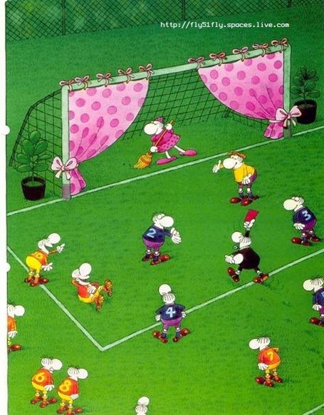 """Goalie is definitely doing his/her job of """"goal tending"""""""