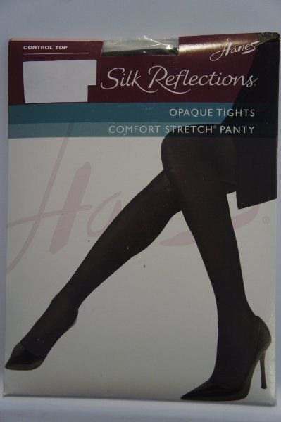 6.89$  Watch now - http://virvm.justgood.pw/vig/item.php?t=ishec332197 - Hanes Silk Reflections Opaque Petite Tights Sz P S Mocha Control Top 0A923