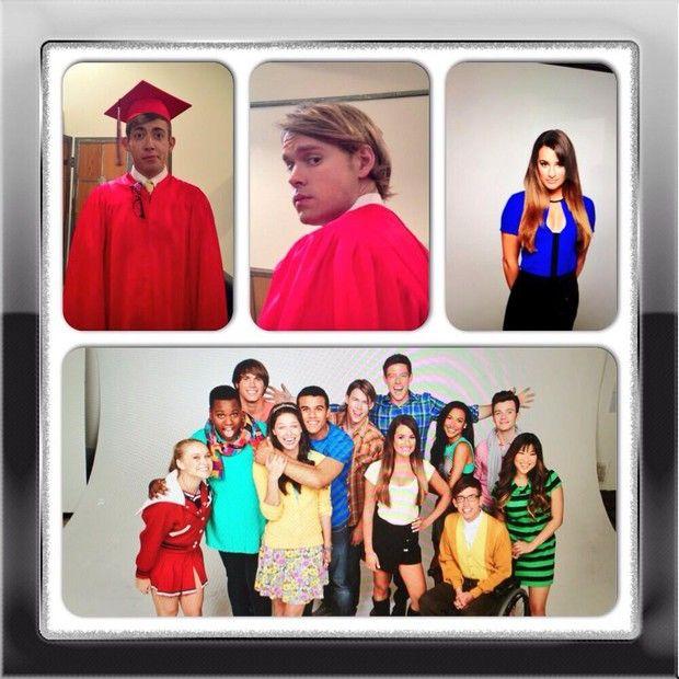 Foto do elenco de Glee postada por Lea Michelle (Foto: Twitter / Reprodução)