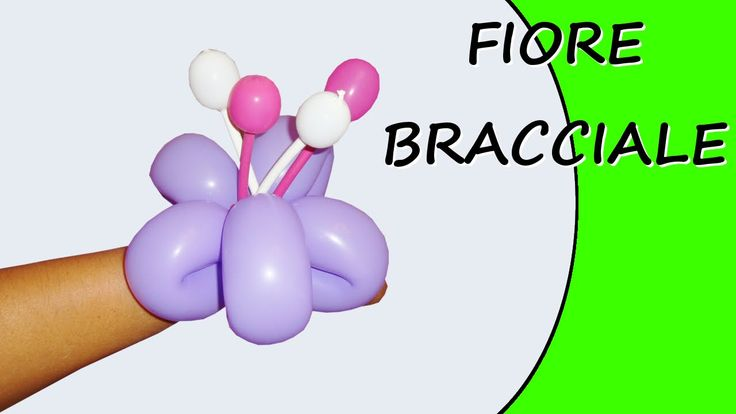 Video tutorial on how to make a flower bracelet with balloons twisting #flower #bracelet
