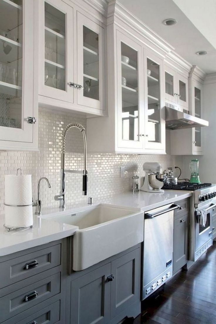 12 Impressive Farmhouse Kitchen Decorating Ideas For You In 2020 Kitchen Remodel Small Kitchen Remodel Design Kitchen Sink Decor