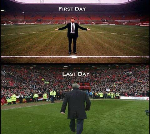 Sir Alex Ferguson!  # Manchester United never ever will forget!! Best manager and coach ever to walk onto the field