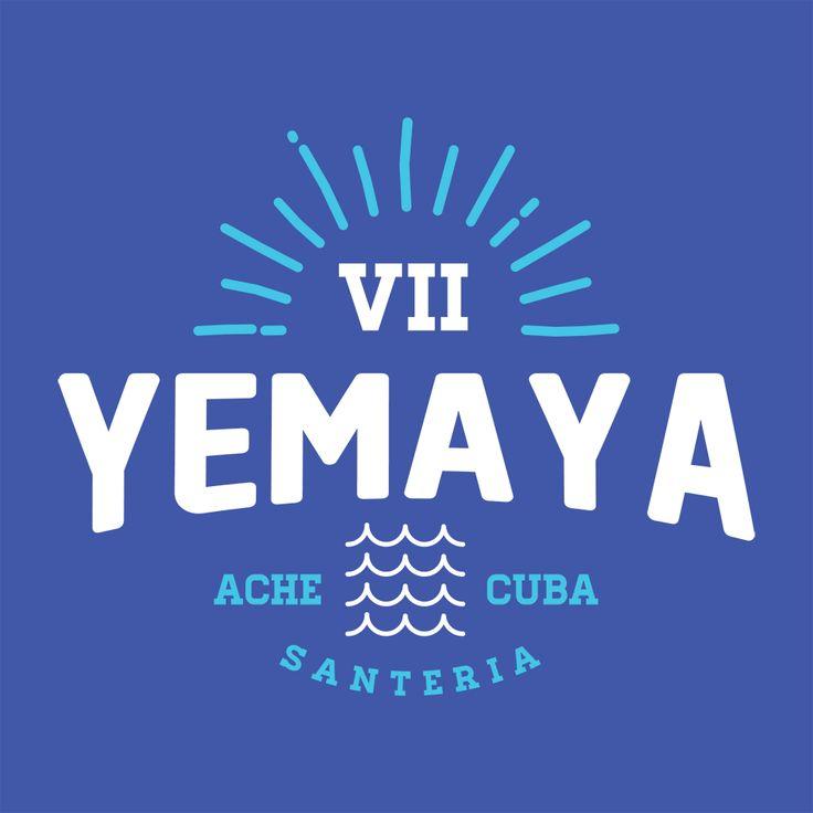Yemaya santeria orishas logo in blue and white #cuba http://www.zazzle.com/cubajunky*