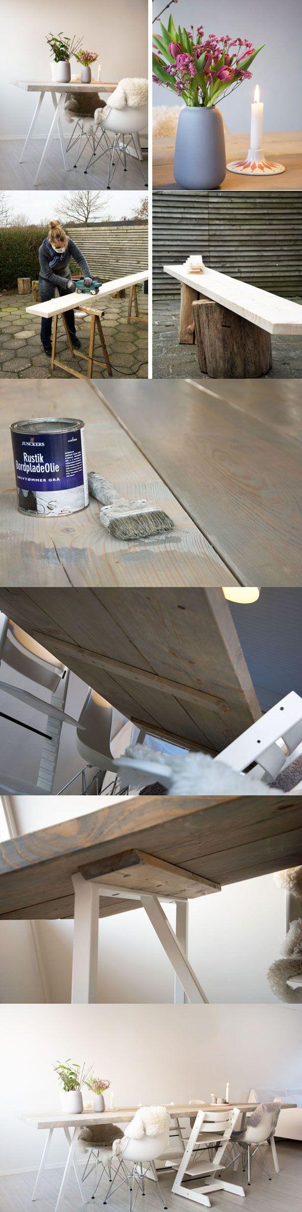 DIY dining table IKEA Lerberg hack