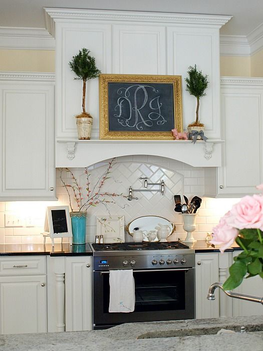 My lil' ol' kitchen is a contest finalist!  Will you click over & vote for Julie's kitchen, pretty please?