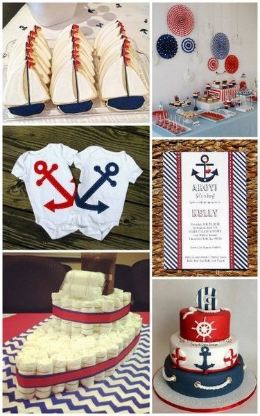Superb Fun Red, White And Blue Nautical Baby Shower Ideas #nauticalbabyshower