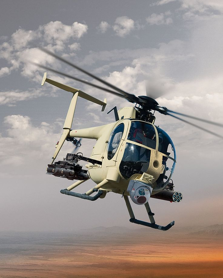 Boeing AH-6 ARH light attack & special forces helicopter.